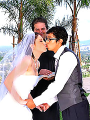 Amazing hot ass mindy main sucks a hard cock and get cumfaced on the day of her wedding in these hot reality pics