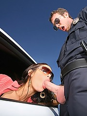 Officer jordan sticks his big cock in roxy and angelin