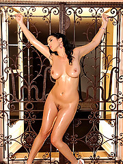 Busty babe Jelena Jensen poses her big tits in hot lingerie