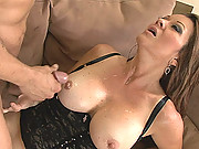 Raquel Devine Takes Thick Cock Up Twat And Jizz On Her Milf Tits