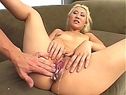 Sierra Lynn a blond Asian wants your cum all over her pussy