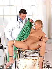 C.J. gets bound &amp; her pussy examined by deviant doctor Nick