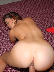 Hot little tight package red head gets her little titties creamed after getting rammed hard against the couch in these hot house party fucking pics
