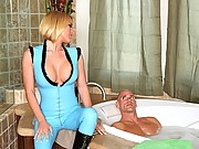 Horny blonde gets plowed