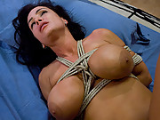 MILF roleplay, Lisa Ann dominated and fucked in bondage!