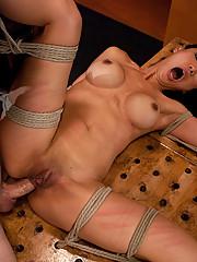 Perverted hypnotist turns Tia into a submissive anal pain slut.