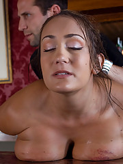 Huge Gorgeous Tit Slave Tained To Suck Cock