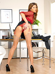 Monica Sweetheart in a hot little office outfit