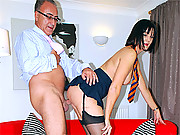 Old senior fucking a hot willing british babe