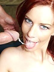 Cute Redhead Takes Whopper In Her Ass