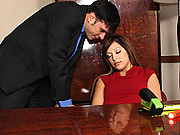 Hot office chick fals asleep and gets fucked hard