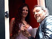 Real window hooker pleasing an Italian cock