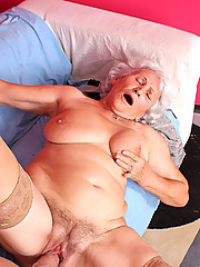 Classy Anilos granny Betty gets what she wants as a horny stud pounds her seasoned pussy on the couch