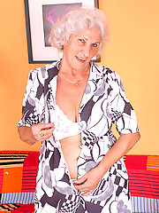 Check out sex starved granny Betty as she shows us her seasoned juice box and pleasures it with her finger
