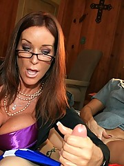 Stacie Starr and Rache Steele are members of the local M.F.E.B in this episode rachel steele and stacie starr milf free handjob from club tug