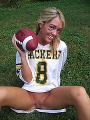 Foxy Jacky loves nude football
