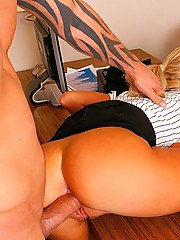Bianca Lovely getting pummeled by the clients massive dick