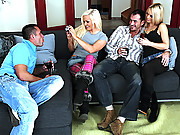 2 hot blonde euro babes get fucked in the ass by 2 guys  4 movies