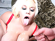 Dirty MILF slut with life-threatening boobs gets fucked!
