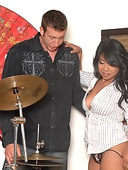 A set of two asian beauties get fucked