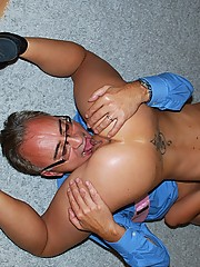 Bald british UK slut banged hardcore pictures