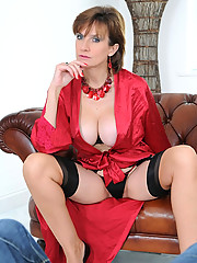 Busty british mature teasing