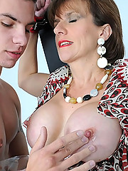 Busty fetish milf in bondage set