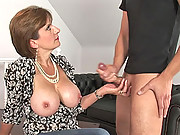 English milfs huge tits get cumload
