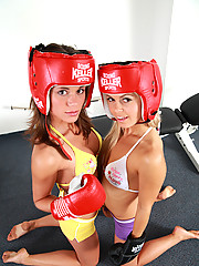 Little Caprice boxing and fucking like crazy