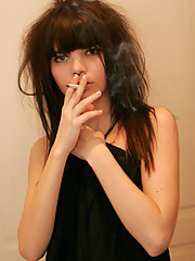Gorgeous 18yo teen smokes cigarette in a very sexy way