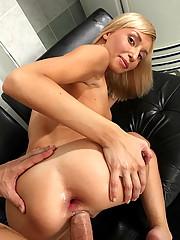 Teen Milanas gaping assholes fucked by a bastard