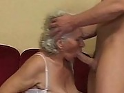 Grey hair granny in stockings hardcore