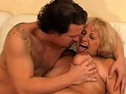 Suck on grannys big old titties