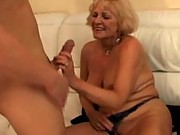 Suck on grannys big old titties
