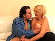 Big titty granny loves hard cock