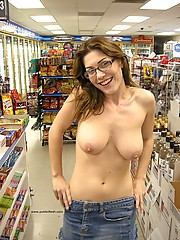 Cutie with glasses flashing