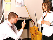 Office girl gets humiliated by her big dick boss