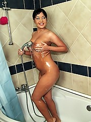 Hot euro babe showers then gets her hot ass fucked hard in these wet fucking cumfaced pics