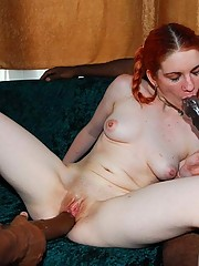 The dick swingin' cock monsters roped ginger sexy cutie Ryzell for some pussy stretching fun.