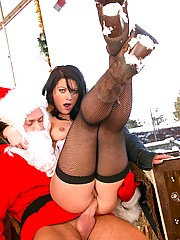 Santa penetrating a very cute girl in her ass
