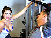 London Keyes showing how to work on a cock hard