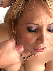 Sexy big assed cougar with big tits gets her pussy banged by a young punk