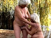 Two horny grey haired lesbian grannys