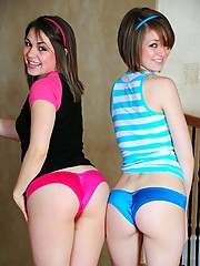 Taylor and Rachel are two teen friends that have tight bodies and love to experiment with each other