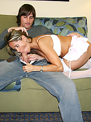 HotWifeRio meets her boytoy at a hotel and strokes his hard cock all night