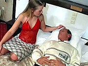 Hot maid fucking her old senior boss hardcore