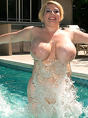 Big Tits in Pool