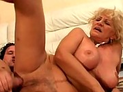 Busty granny fucking on the side