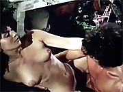 Very real retro couple fucks in garden shed