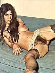 Vintage wet hairy beaver pictures of oldtimer
